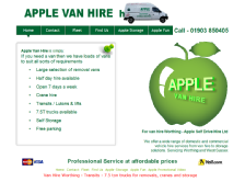 apple van hire worthing - web design