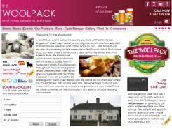 The Woolpack - Burgess Hill - web design